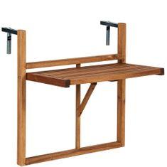 Butlers Balkonový skládací stůl - přírodní