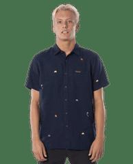 Rip Curl pánska košeľa SWC Motif Linen S / S Shirt