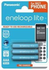 Panasonic Eneloop Akumulator Lite R03 AAA 3 szt. 550 mAh BK-4LCCE / 3DE