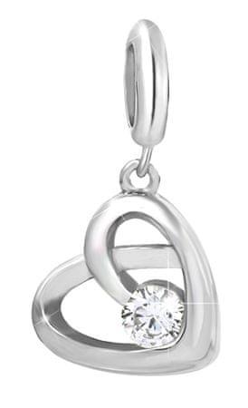 Infinity Love Srebrni obesek s kristalom HTS-347-S srebro 925/1000