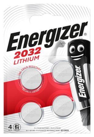 Energizer Lithium baterija CR2032, 4 kosi