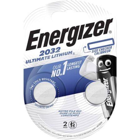 Energizer Ultimate Lithium baterija CR2032, 2 komada