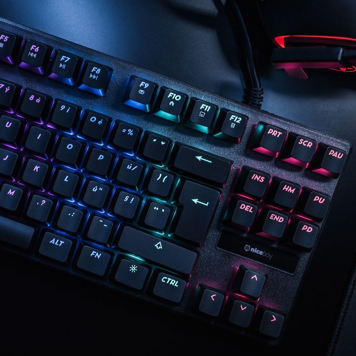 Herná klávesnica Niceboy ORYX K300X, (oryx-k-300x)