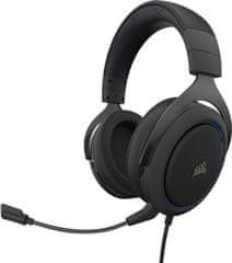 Corsair Słuchawki gamingowe HS50 Pro Stereo, niebieskie (CA-9011217-EU)