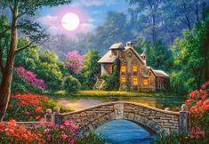 Castorland Puzzle Dům v měsíční zahradě 1000 dílků