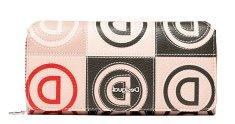 Desigual Dámská peněženka Mone Logo Patch Beige 20SAYP25 6008