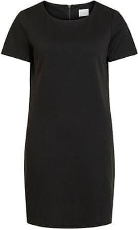 VILA Ženska obleka VITINNY NEW S / S DRESS - FAV Black (Velikost S)