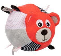 Canpol babies Plyšová senzorická loptička Medvedíci, červený