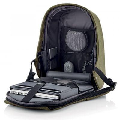 batoh XD Design Bezpečnostní batoh Bobby Hero Small, zelený (P705.707) členitý vnitřní prostor