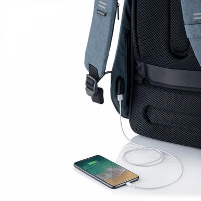 XD Design nahrbtnik Bobby Hero Small, svetlo moder (P705.709) skriti žepi varnostni žepi RFID vgrajen polnilni kabel