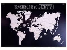 WOODEN CITY Mapa světa XL
