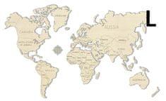 WOODEN CITY Světová mapa L