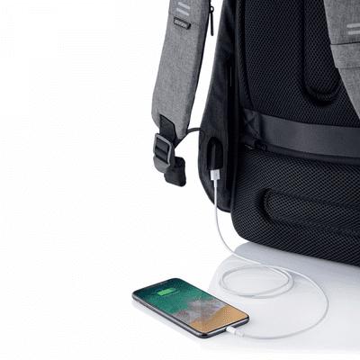 XD Design nahrbtnik Bobby Hero Regular, siv (P705.292) skriti žepi varnostni žepi RFID vgrajen polnilni kabel