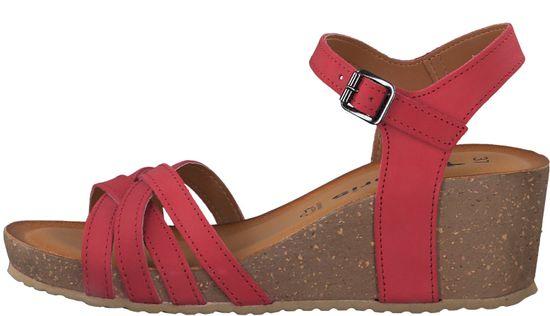 Tamaris dámske sandále 28342, 41, červená