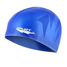 SPURT silikonová čepice s plastickým vzorem F230, modrá