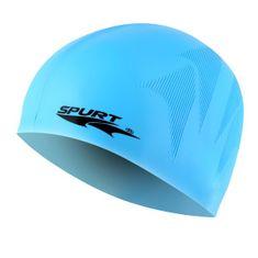 SPURT silikonová čepice s plastickým vzorem se25, modrá