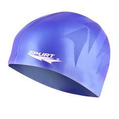 SPURT silikonová čepice s plastickým vzorem SE34, modrá