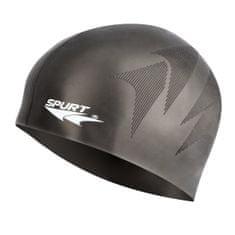 SPURT silikonová čepice s plastickým vzorem SH80, černá