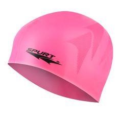 SPURT silikonová čepice s plastickým vzorem SC16, růžová
