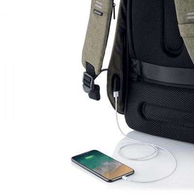 nahrbtnik XD Design Varnostni nahrbtnik Bobby Hero Navadni, zelen (P705.297) skriti žepi za varnost predmetov RFID in polnilni kabel