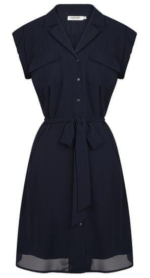 NAFNAF dámske košeľové šaty MENR45 40 tmavomodré