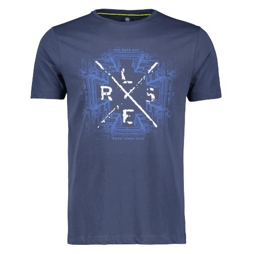 Lerros pánske tričko 2023026 XL tmavomodrá