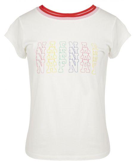 NAFNAF dámske tričko MENT66 L smotanová