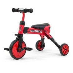MILLY MALLY Dětská tříkolka 2v1 Milly Mally Grande red