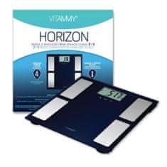 Vitammy HORIZON Fürdőszoba mérleg és mérleg SENSE ON funkcióval rendelkező sportolók számára, kék