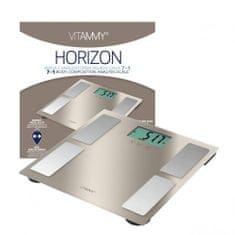 Vitammy HORIZON Fürdőszoba mérleg SENSE ON funkcióval rendelkező sportolók számára is, arany gyöngyház