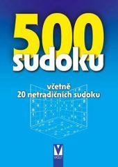 500 sudoku - 6 stupňů obtížností včetně 20 netradičních sudoku (modrá)