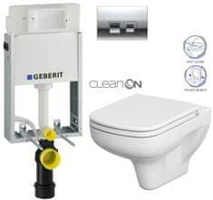 Geberit SET KOMBIFIXBasic včetně ovládacího tlačítka DELTA 50 CR pro závěsné WC CERSANIT CLEANON COLOUR + SEDÁTKO (110.100.00.1 50CR CN1)