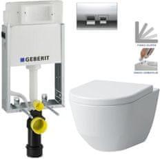 Geberit KOMBIFIXBasic včetně ovládacího tlačítka DELTA 50 CR pro závěsné WC LAUFEN PRO + SEDÁTKO (110.100.00.1 50CR LP3)
