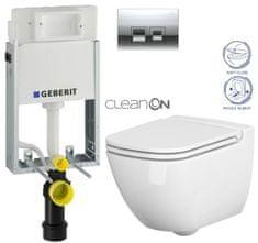 Geberit SET KOMBIFIXBasic včetně ovládacího tlačítka DELTA 50 CR pro závěsné WC CERSANIT CLEANON CASPIA + SEDÁTKO (110.100.00.1 50CR CP1)