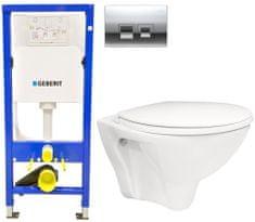 Geberit SET Duofix Sada pro závěsné WC 458.103.00.1 + tlačítko DELTA50 CHROM + WC ARES + SEDÁTKO (458.103.00.1 50CR AR1)