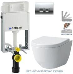 Geberit SET KOMBIFIXBasic včetně ovládacího tlačítka DELTA 50 CR pro závěsné WC LAUFEN PRO RIMLESS + SEDÁTKO (110.100.00.1 50CR LP1)