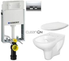 Geberit SET KOMBIFIXBasic včetně ovládacího tlačítka DELTA 50 CR pro závěsné WC CERSANIT ARTECO CLEANON (110.100.00.1 50CR AT2)