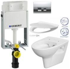 Geberit SET KOMBIFIXBasic včetně ovládacího tlačítkaDELTA 50 CR pro závěsné WC CERSANIT CLEANON PARVA + SEDÁTKO (110.100.00.1 50CR PA2)