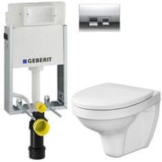 Geberit SET KOMBIFIXBasic včetně ovládacího tlačítka DELTA 50 CR pro závěsné WC CERSANIT DELFI + SEDÁTKO (110.100.00.1 50CR DE1)