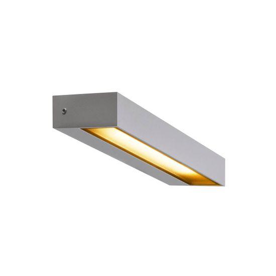 BIG WHITE BIG WHITE PEMA® WL LED venkovní nástěnné nástavbové svítidlo, IP54, stříbrná, 3000K 1002071