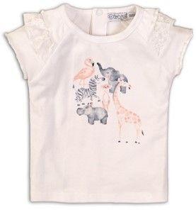 Dirkje majica za djevojčice s motivom životinja, 86, bijela
