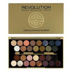 Makeup Revolution Korlátozott Palette szemhéjfesték Bátraké a szerencse (szemhéjárnyaló paletta) 16 g
