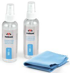 Meliconi 621015 C - 2×100 ml antistatický čistič + utěrka