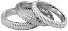 Calvin Klein Set jeklenih obročev Waves KJ17AR0102