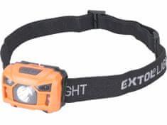 Extol Light Čelovka 100lm, nabíjecí, USB, 3W LED