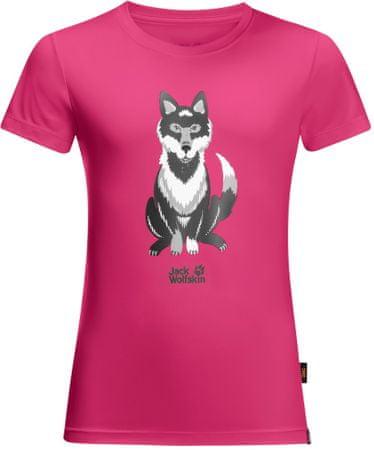 Jack Wolfskin Koszulka dziewczęca WOLF T KIDS 92 różowa