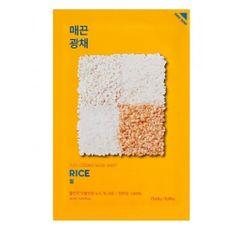 Holika Holika Brezentowa maska z ryżem do rozjaśnienia i witalności skóry ( Essence Mask Sheet) Pure ( Essence Mas