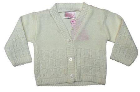 Just Too Cute sweter dziewczęcy 68 biały