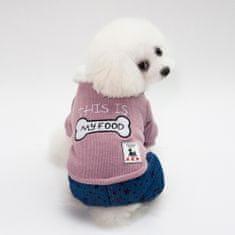 Poochin Zimní kombinéza pro psa - Růžová M
