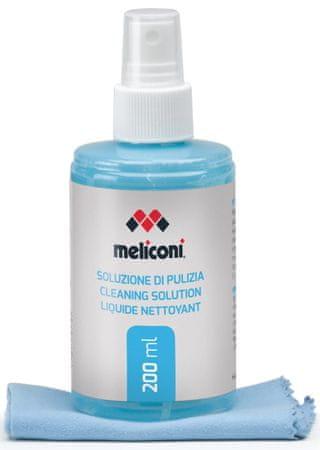 Meliconi 621001 C-200 čistilni sprej, 200 ml + krpa